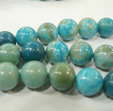 """6mm Blue Crazy Lace Agate Round Gems Loose Beads 15"""""""