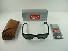 RAY-BAN NEW WAYFARER ASIAN FIT SUNGLASSES RB2132F 901L BLACK/G-15 LENS 55MM