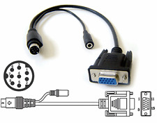 VGA RGNHV To Mini DIN 8-pin Video Audio Input/Output Adapter Cable