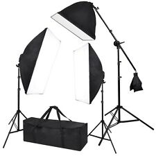3x Studio Softbox Lighting 2000W Photography Light Boom Arm Stand Kit Studio