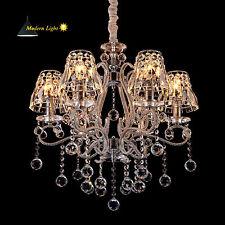 6 Fl Kristall Hängeleuchte Kronleuchter Deckenleuchte Deckenlampe Pendelleuchte