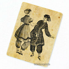 Victorian Lady's Bathing Dresses Deco Magnet, Decorative Fridge Refrigerator