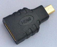 Micro HDMI(Type D) Male to HDMI(Type A) Female Converter Adapter Connector 1080p