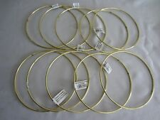 "Lot of 10 Gold Metal Brass Macrame Craft Dreamcatcher Rings 6"" Inch Diameter"