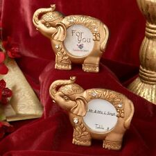 20 Gold Finish Good Luck Gold Indian Elephant Place Card Holder Wedding Favors