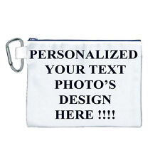 New PESONALIZED Custom LOGO Design PHOTO Text Canvas Cosmetic BAG FREE shipping