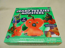 NEW JUMBO FUZZIES MONSTERS FABRIC CRAFTS CREATE 7 UNIQUE MONSTERS AGES 5+ GIFT