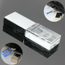 32GB USB 2.0 Aggreko Transparent Flash Memory Stick Pen Drive Storage Thumb&LED