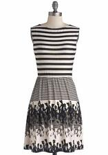 Young Threads Stripes Silhouettes Retro Vintage Sleeveless Dress Plus Size 2X