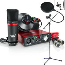 Focusrite Scarlett Solo Studio 2nd Home Recording Pack Bundle + Stand + Filter