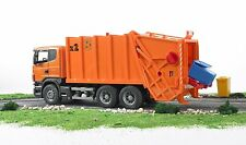 Bruder SCANIA R-series Garbage Toy Truck Orange # 03560 NEW SAME DAY SHIPPING