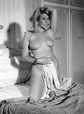 1960s Teri Martine Keeling on bed exposing her Breasts 8 x 10 Photograph