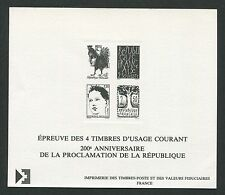 FRANCE EPREUVE DE LUXE LUXUSBLOCK PROCLAMATION REPUBLIQUE HAHN RARE! d2107