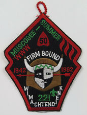 OA Lodge 221 Muscogee eX1992-2 Summer Fellowship 1942-1992  [R357]