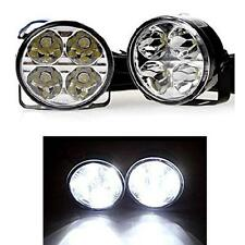 1 x Pair 70mm Round 6000K White DRL Daytime Running Lights - Renault Laguna