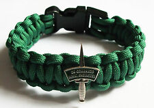 24 COMMANDO ROYAL ENGINEERS PARACORD WRISTBAND WITH BADGES