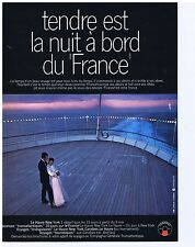 PUBLICITE ADVERTISING 104 1969 Tendre est la nuit au bord du 'France'