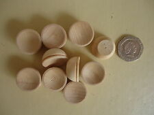 """10 Miniature wooden bowls 20mm (3/4"""") wide. peg doll wood dishes."""