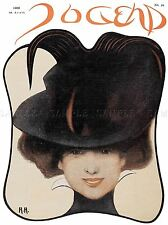 MAGAZINE JUGEND GERMANY WOMAN HAT ART POSTER PRINT LV2012