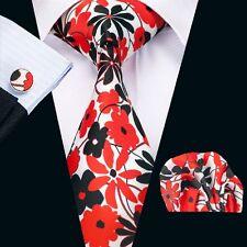 Hochzeit Rot Krawatte Herren stilvoll Seide Krawatte-Satz Neu eingetroffenN-1238