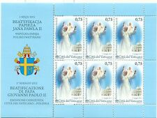PAPA GIOVANNI PAOLO II - POPE JOHN PAUL II VATICAN 2011 Beatification sheetlet