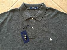 Polo Ralph Lauren Mesh Shirt 4XLT Black Heather w/Ivory Pony Classic Fit $98 NWT