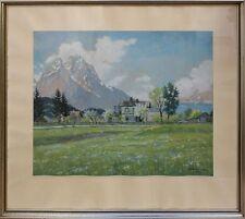 Jakob Hellmann (1877-1953) - delantera del tren en la primavera-gouache