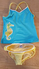 Brand New Sea Horse Printed Tankini Set Age 12-13 years by Land's End   Boden
