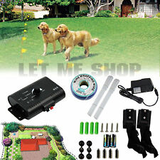 Underground Electric Dog Fence System Waterproof 2 Shock Collars for 2 Dogs