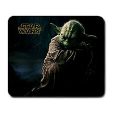 Master Yoda Jedi Knight Star Wars Movie Gaming Gamers Non Slip Mouse Pad Mat