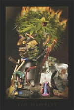 THE HEMPEST - WEED ART POSTER - 24x36 POT MARIJUANA COLLAGE 766