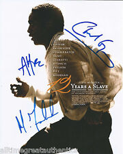 12 YEARS A SLAVE CAST HAND SIGNED AUTHENTIC 8X10 PHOTO w/COA X3 FASSBENDER +2