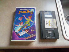 disney the classics peter pan vhs black diamond 1990 rare paper VHS TAPE label