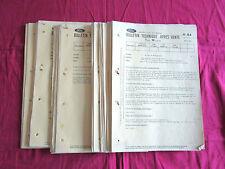 FORD : 100 bulletins techniques 1970-1971 Taunus,Capri,Escort,Transit,27 M,20 M