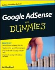 Google Adsense for Dummies by Jerri L. Ledford (Paperback) NEW