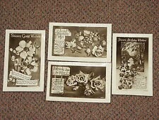4 off Vintage Birthday Wishes Photograph Post Cards