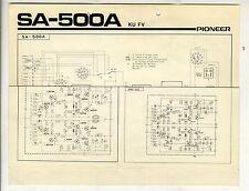PIONEER - SA-500  KU - FU - ESQUEMA ELECTRICO  ( ORIGINAL CATALOG )