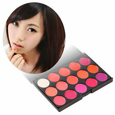 New Professional 15 Color Lipstick Set Makeup Cosmetic Lip Gloss Palette BY