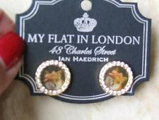 "~Brighton Earrings ""Canterbury"" Fox Pic Stud My Flat in London new on Card!~"