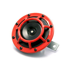 "4.8"" Black & Red Grill 12V Universal Round Horn for Cars ATV Motorbikes Trikes"