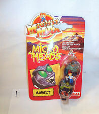 Mighty Max Shrunken Heads Insectoid Set Playset Sealed on Card Bluebird Toys #1