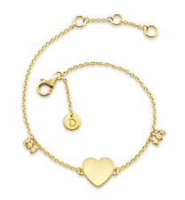 Daisy London Jewellery NEW! 18ct Gold Plated Large Heart Good Karma Bracelet