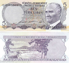 TURKEY 5 LIRASI UNC  # 218