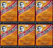 Pises Powder Treatment Cream Acne Herb Anti Bacterial for Pimple 6x3g Free Ship