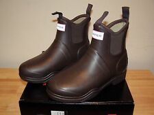 Hunter Balmoral Equestrian Lined Rain Boots 5 Womens Insulated Winter Brown