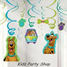 Scooby Doo Birthday Party  - 12 Hanging Swirl Decorations- Free Postage in Uk