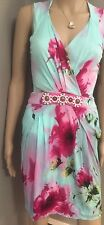 Light blue floral   dress  with beading with  by Blumarine  Cruise  sz sz 4