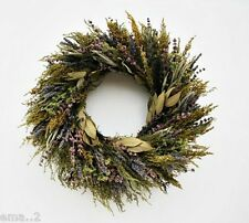 "18"" FRAGRANT DRIED LAVENDER HERB WREATH SCENT RUSTIC COUNTRY WALL HANG DECOR fp"