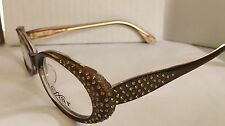 Caviar Authentic Lady's Eyeglass 6168 16 Plastic Brown,Genuine Austrian Crystals