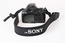 camera black and white Neoprene Neck Strap for Sony